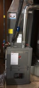 Image of newly-installed furnace unit of HVAC.