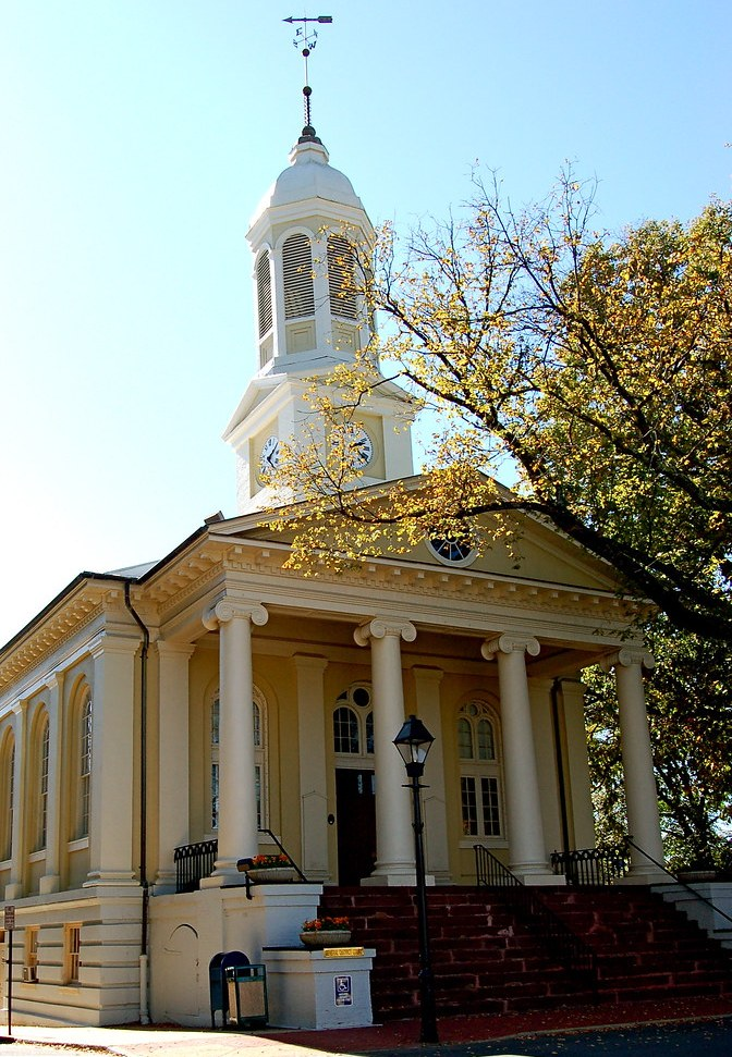 Image shows Fauquier County Courthouse in Warrenton, VA.